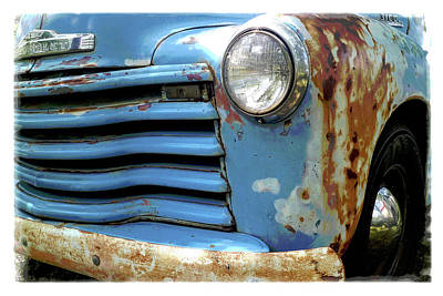 Photograph - Blue Chevy Truck by Scott Kingery