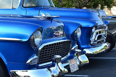 Photograph - Blue Chevys by Dean Ferreira