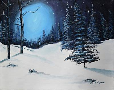 Painting - Blue Christmas by Jan Dappen