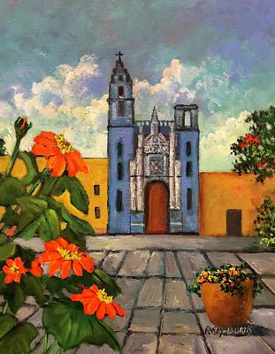 Painting - Blue Church   Iglesia Azul by Randy Burns
