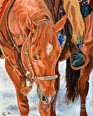 Painting - Blue Cinch by Jana Goode