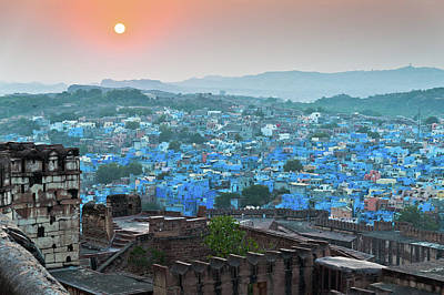 Rajasthan Photograph - Blue City At Sunset by Massimo Calmonte (www.massimocalmonte.it)