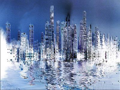Painting - Blue City by Stuart Turnbull