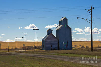 Photograph - Blue Classic Grain Elevators by Tatiana Travelways