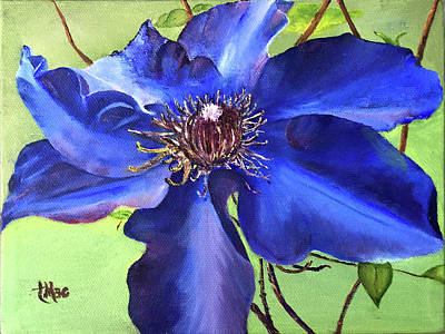 Painting - Blue Clematis by Terry R MacDonald