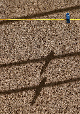 Photograph - Blue Clothespin Shadow by Prakash Ghai
