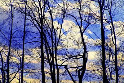 Blue Clouds Art Print by Aron Chervin