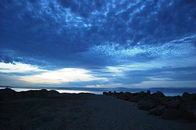 Photograph - Blue Clouds Beach Sunset - Rocky Row by Matt Harang