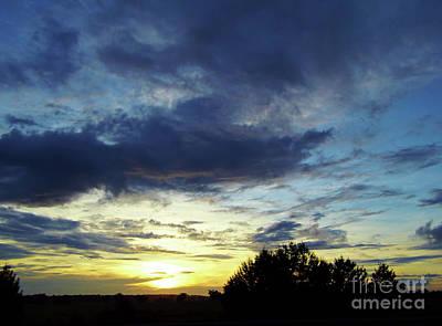 Photograph - Blue Clouds Silhouette Sunrise by D Hackett
