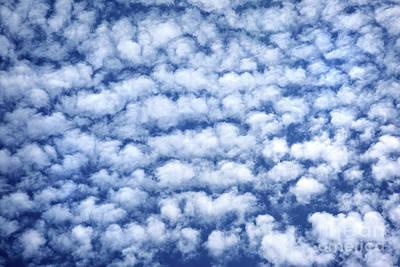 Photograph - Blue Cloudy Sky by Anna Om