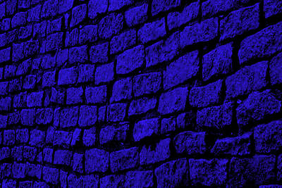Blue Cobblestone Art Print
