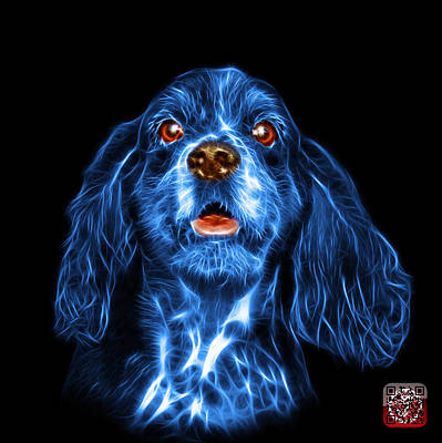 Mixed Media - Blue Cocker Spaniel Pop Art - 8249 - Bb by James Ahn
