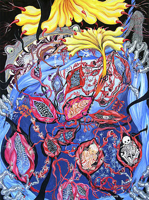 Blue Cocoon Art Print