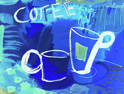 Painting - Blue Coffee by Amara Dacer