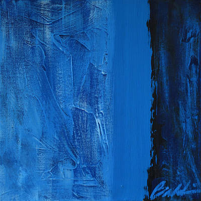 Painting - Blue Collar by Rick Baldwin