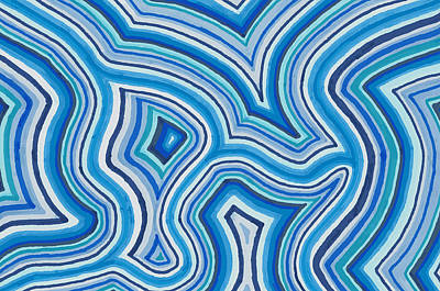 Drawing - Blue Color Burst by Jill Lenzmeier