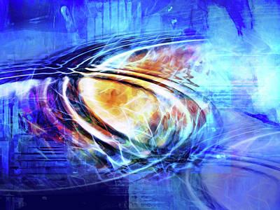 Blue Connexion Art Print by Lutz Baar