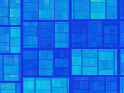 Digital Art - Blue by Contemporary Art