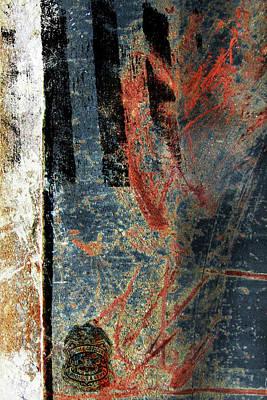 Blue Cop Trio Abstract #2 Art Print by Anita Burgermeister
