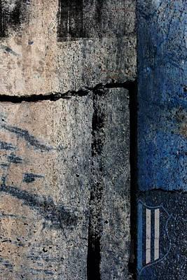 Blue Cop Trio Abstract #3 Art Print by Anita Burgermeister