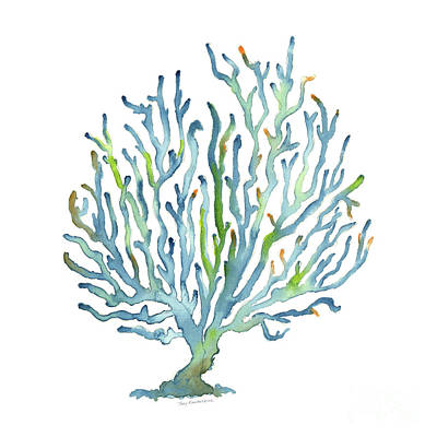 Wild And Wacky Portraits - Blue Coral by Amy Kirkpatrick