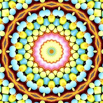Candy Corn Digital Art - Blue Corn by Lori Kingston