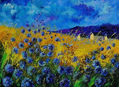 Blue Cornflowers Art Print by Pol Ledent