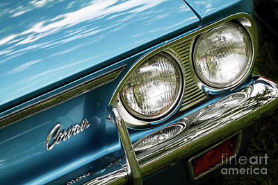 Photograph - Blue Corvair by Dennis Hedberg