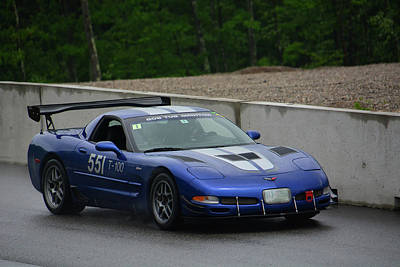 Speed Trials Photograph - Blue Corvette 551 by Mike Martin