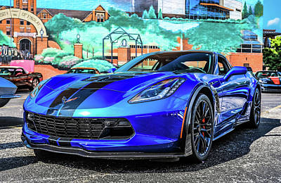 Photograph - Blue Corvette by Dan Sproul