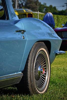 Photograph - Blue Corvette Fender by Dean Ferreira