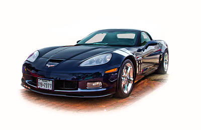 Photograph - Blue Corvette by Mamie Thornbrue