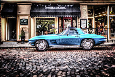 Photograph - Blue Corvette by Wade Brooks