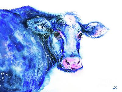 Painting - Blue Cow by Zaira Dzhaubaeva