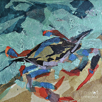 Blue Crab Mixed Media - Blue Crab 2 by Lennie Ciliento