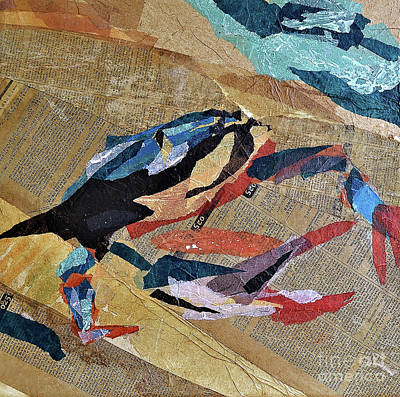 Blue Crab Mixed Media - Blue Crab 3 by Lennie Ciliento