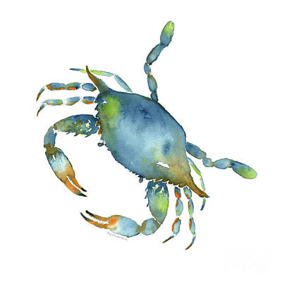 Watercolor Alphabet Rights Managed Images - Blue Crab Royalty-Free Image by Amy Kirkpatrick
