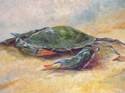 Blue Crab At Rest Art Print by Beth Maddox