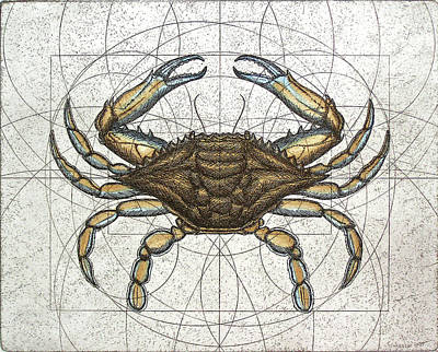 Mixed Media - Blue Crab by Charles Harden