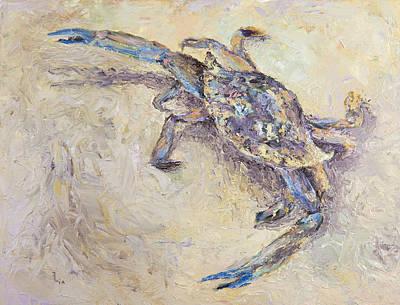 Blue Crab Print by Elena Liachenko