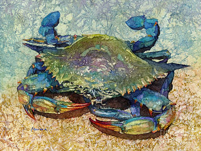 Abstract Stripe Patterns - Blue Crab by Hailey E Herrera