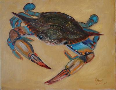 Painting - Blue Crab II by Karen Langley