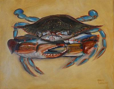 Painting - Blue Crab IIi by Karen Langley