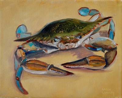 Painting - Blue Crab Iv by Karen Langley