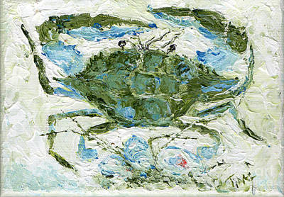 Blue Crab Knife Painting Art Print by Doris Blessington