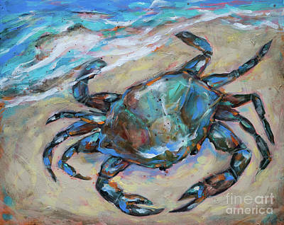 Painting - Blue Crab by Linda Olsen