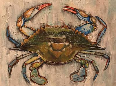 Painting - Blue Crab by Rob Peters