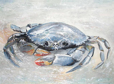 Blue Crab Art Print by Sibby S