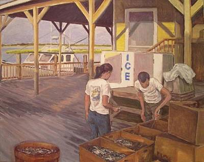 Painting - Blue Crabs Are In by Paul Emig