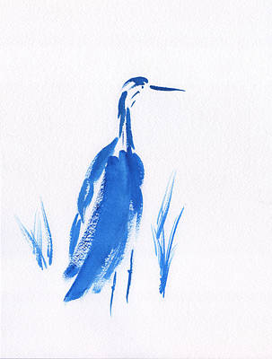 Painting - Blue Crane by Frank Bright